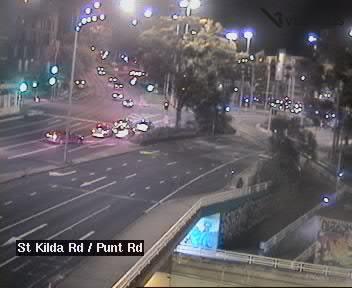 St Kilda Road (at Punt Road)